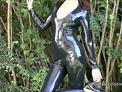 Fetish, Rubber, Busty huge naturals latex rubber