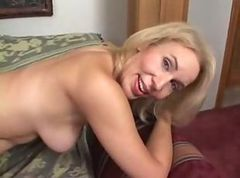 Anal, Milf, Licking blonde milf pussy at home