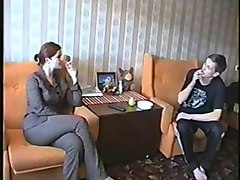 Russian, Milf, Kinky milf seduces a young boy