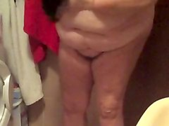 Strip, Old whore strips and begs for cock