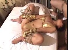Asian, Tied, Tied gangbang