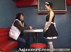 Asian, Maid, Hidden cam man caught by maid