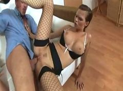 Heels, Secretary, Threesome stockings