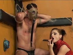 Smoking, Slave, Red dress glasses sister