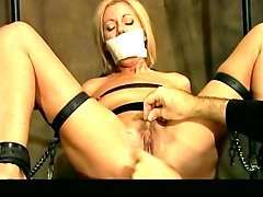 Blonde, Tied, Tightly tied up tits