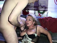 69, German, Milf young boy seduce