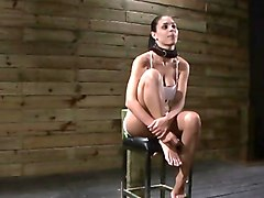 Wet, Tied, Tied up guy teased by girl