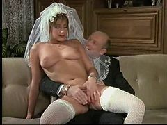 German, Bride, Bbw strip