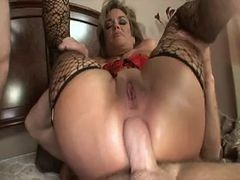 Anal, Mature, Stockings anal