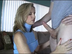 Handjob, Mom, Asian mom and boy