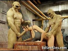 3D, Babe, 3d monsters cocks