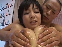 Asian, Oil, Oiled titty lesbian