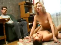 Husband, Wife, Wife and husband fuck their maid