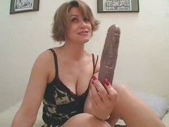 Amateur, Masturbation, Huge dildo flexi