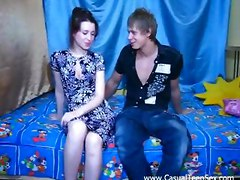 Amateur, Teen, Seducing shy woman