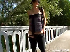 French, Teen, Stockings threesome
