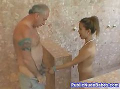 Asian, Blowjob, Public mastervwtion