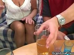Granny, Party, Latina threesome