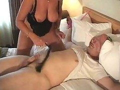 Milf, Mature, Busty horny bitch boss tied up