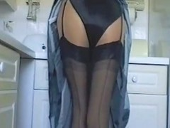Black, Kitchen, Fuckin in satin
